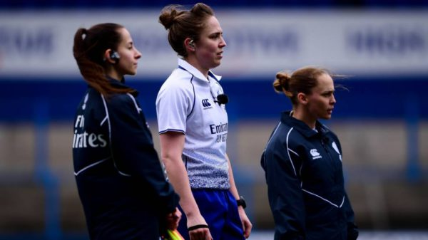 Sara Cox (RFU) is set to referee in her seventh Women's Six Nations