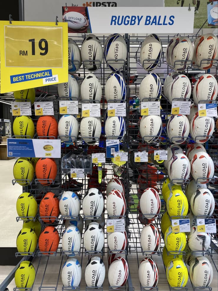 Offload rugby balls